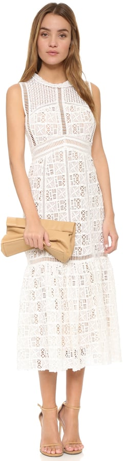 Rebecca Taylor Sleeveless Lace Dress ($875)