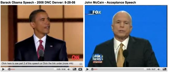 John McCain Draws More Television Viewers For Speech Than Barack Obama, But What About Internet Viewing?