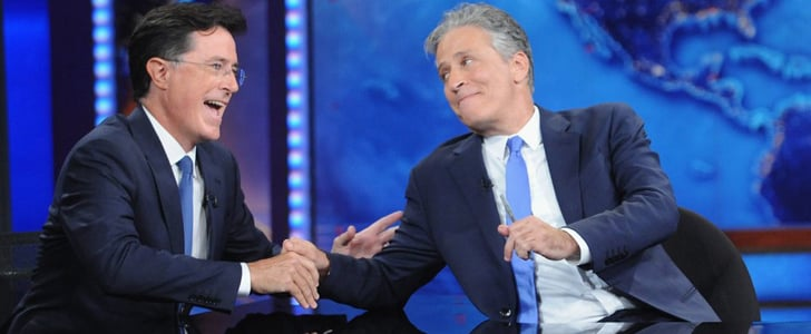 "Stephen Colbert's Farewell to Jon Stewart Made Him Cry: ""Please Don't Do This"""