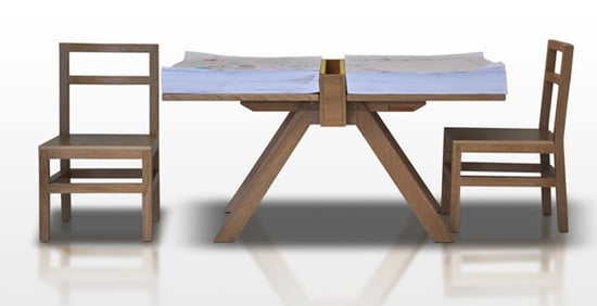 Drawing Table For Two Children: Domodinamica's Foglio