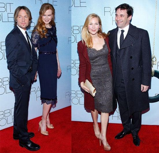 Pictures of Nicole Kidman, Aaron Eckhart, Jon Hamm, Jennifer Westfeldt, Sandra Oh at NYC Premiere of Rabbit Hole 2010-12-03 14:00:00
