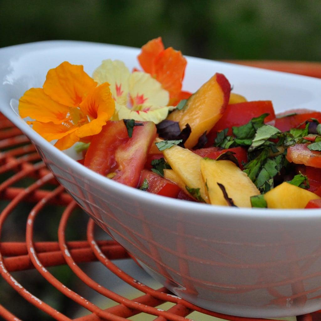 Tomato-Peach Salad