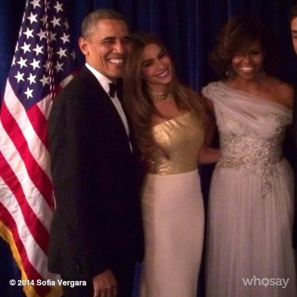 Sofia scored a photo with the president and first lady! Source: Instagram user sofiavergara