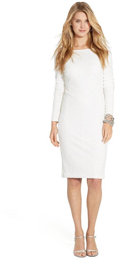 Lauren Ralph Lauren Long-Sleeve Sequined Dress