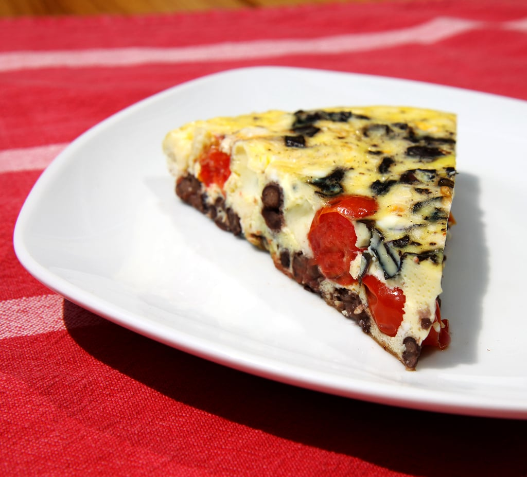 Wednesday: Red, White, Bean, and Basil Frittata