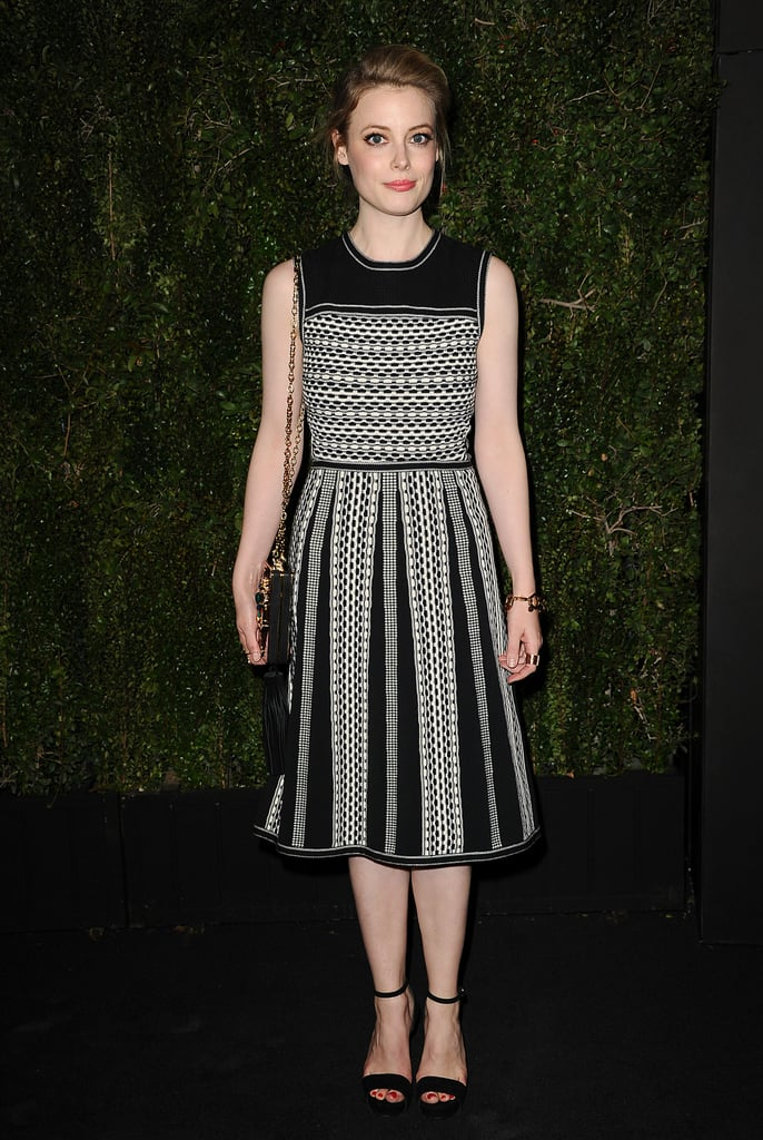 Gillian Jacobs wore a black-and-white number.
