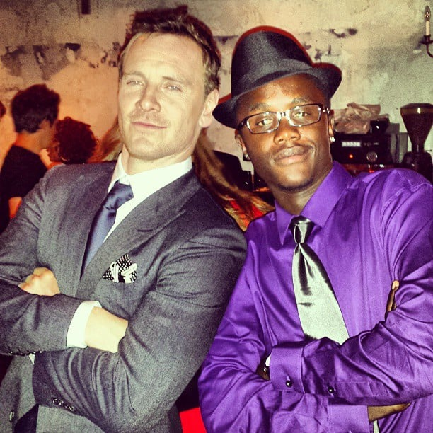 He Posed Like This With Michael Fassbender