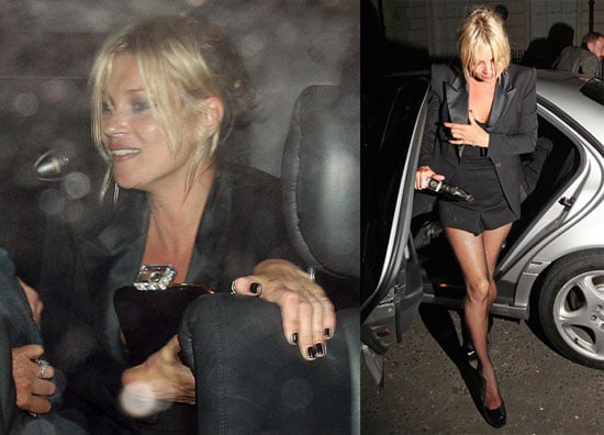 Photos of Kate Moss, Tilda Swinton, Jamie Hince, Kanye West, and Amber Rose Out in London For an Another Magazine Bash