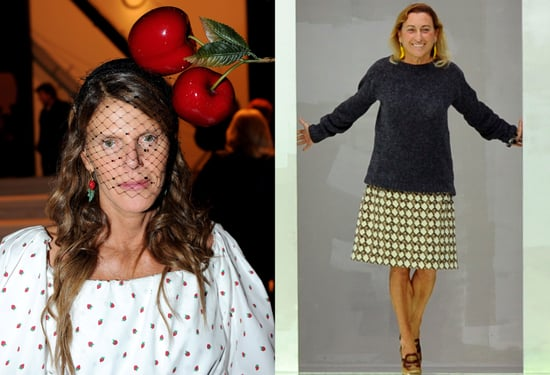Italian Fashion Influencers Miuccia Prada and Anna Dello Russo Obsessed with Wearing Fruit This Season