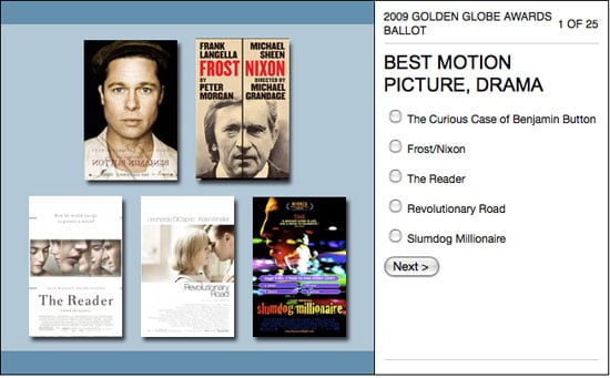 Enter Our Golden Globes Ballot Contest to Win an Apple TV and iTunes Card!