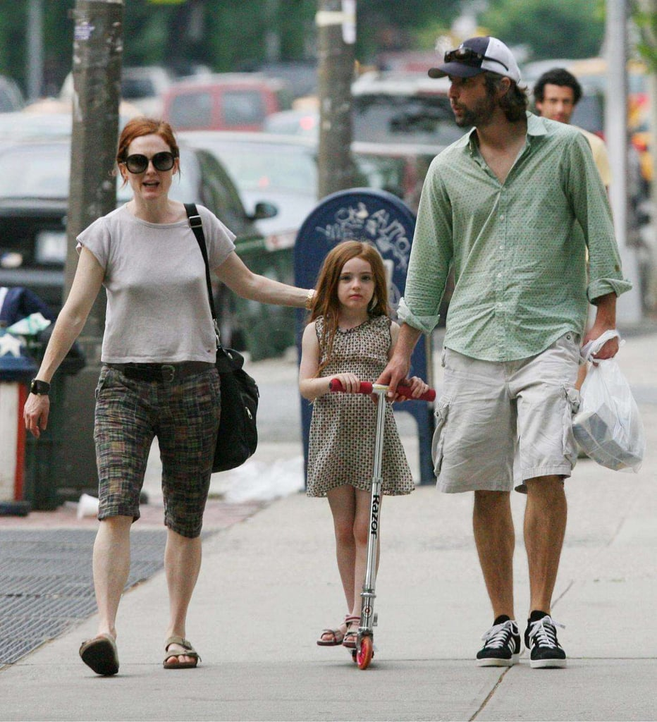 Julianne Moore and Family Scoot Along
