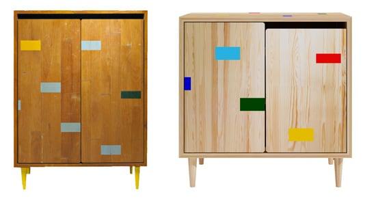 Gymnasium Reclaimed Floor Cabinets