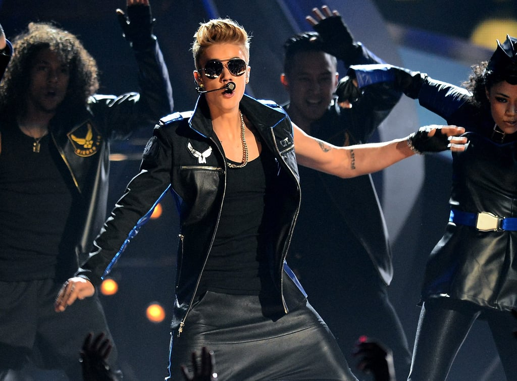 Justin Bieber performed with will.i.am during the show.