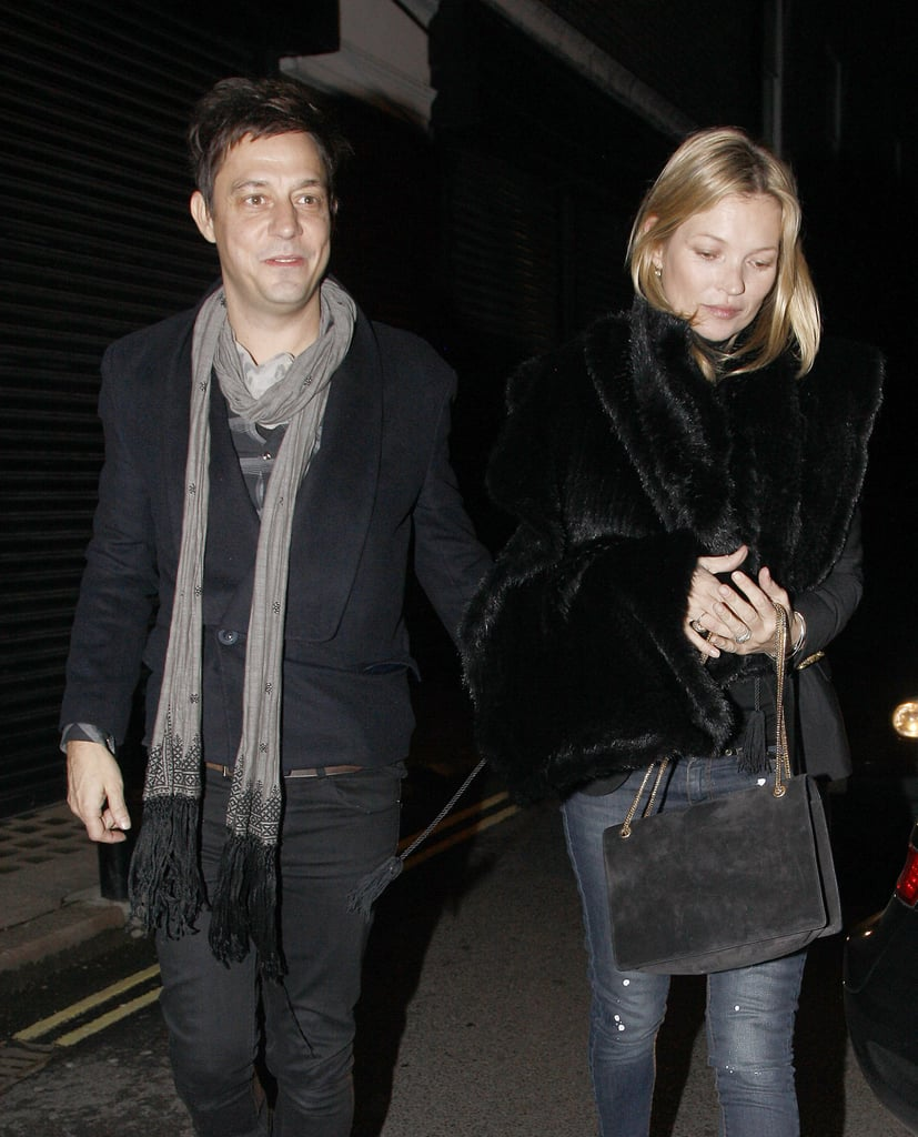 Kate Moss and her husband, Jamie Hince, left Japanese restaurant Umu on Valentine's Day.