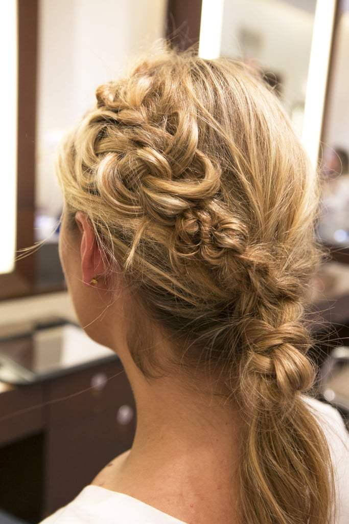 The texture of the knots should flow seamlessly into the top braided section.