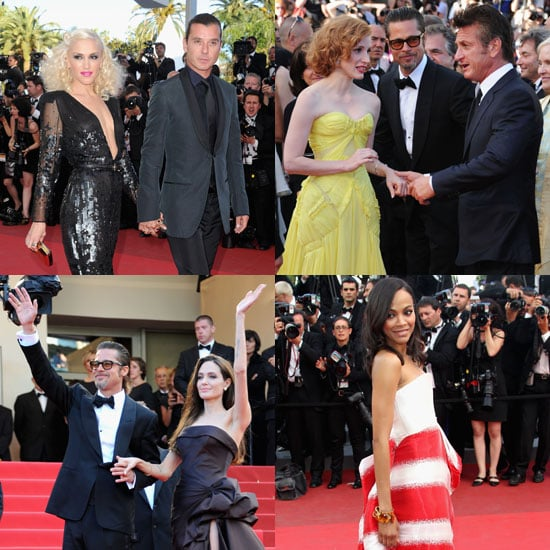 Gwen, Gavin, Jude, and Sean Share The Tree of Life Carpet With Brad and Angelina