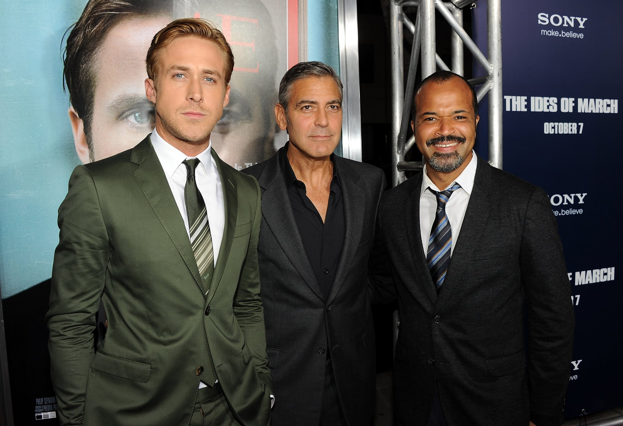 Ryan Gosling, George Clooney and Jeffrey Wright