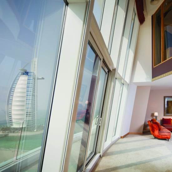 Jaguar takes first advert on dubai 39 s burj khalifa for Best hotel rooms in dubai