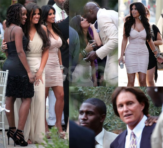 Pictures of Kim Kardashian and Ex Reggie Bush at a Wedding