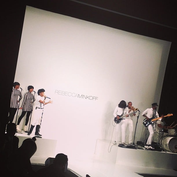 Yes, Janelle Monáe and her beloved pompadour made a vocal appearance at Rebecca Minkoff.