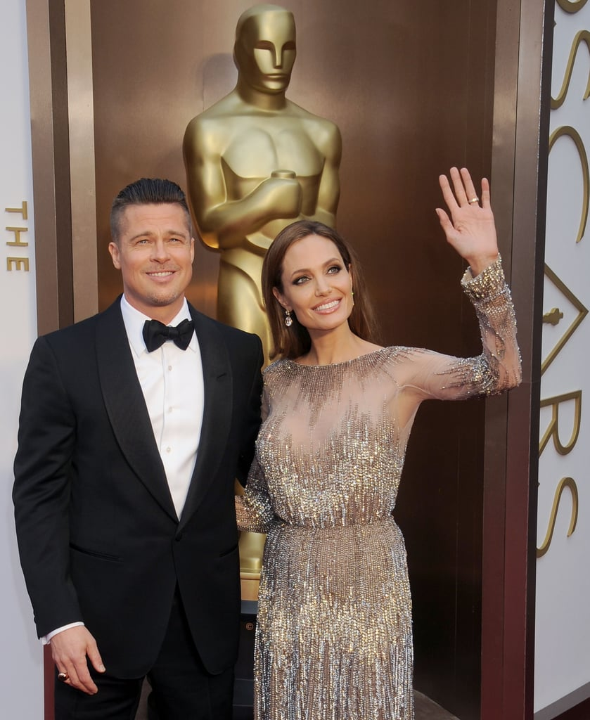 Angie Cheers Brad to His First Oscar