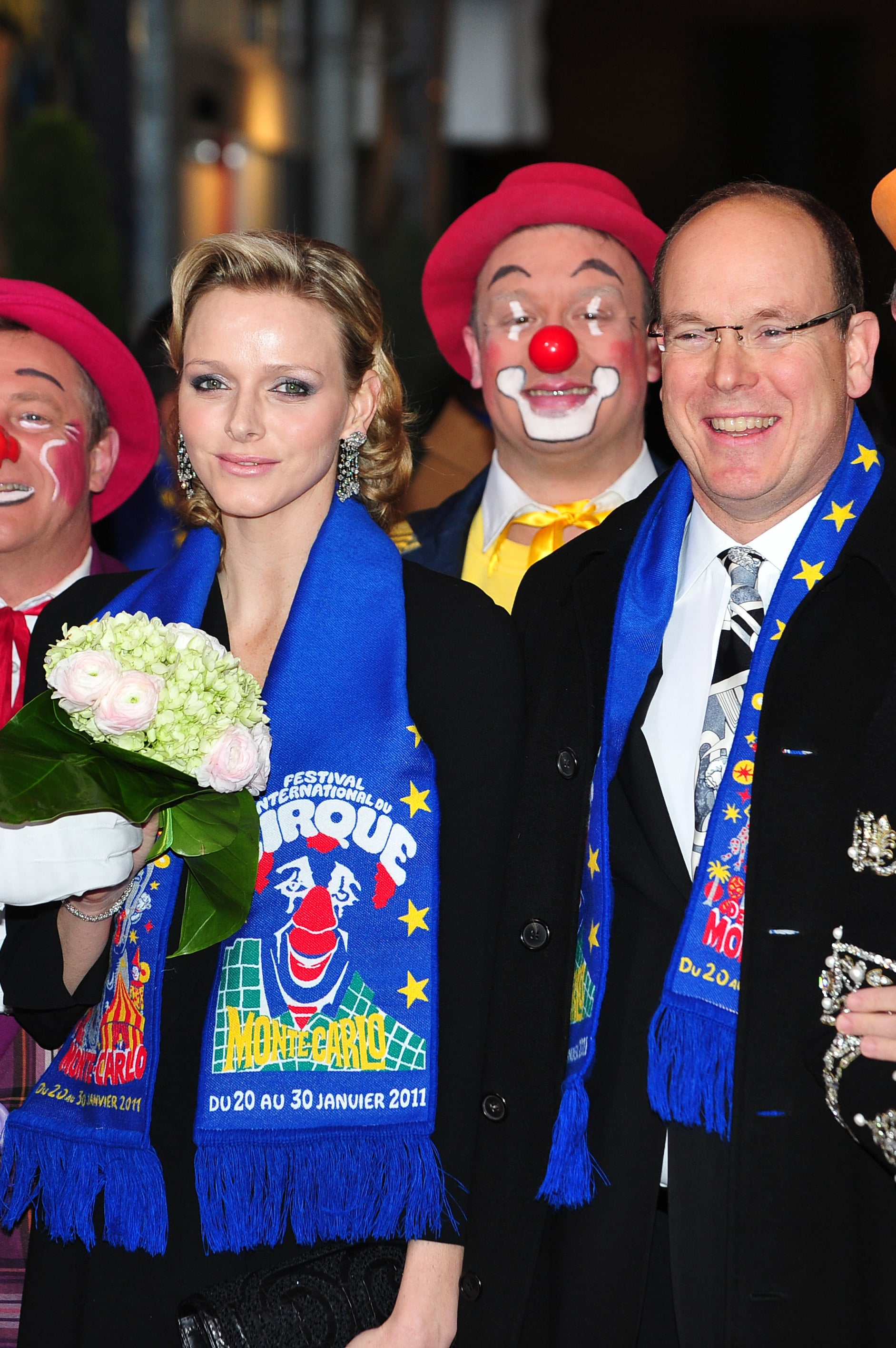 The royal couple attended the award ceremony for the 35th Monte-Carlo International Circus Festival in January 2011. Source: Getty / Frederick Nebinger/Pool