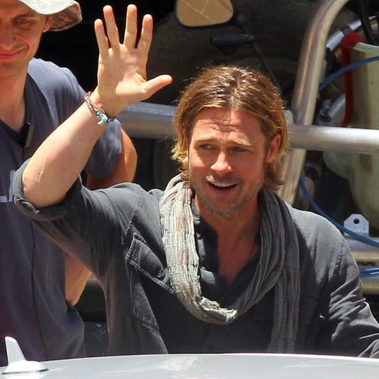 Pictures of Brad Pitt Filming World War Z