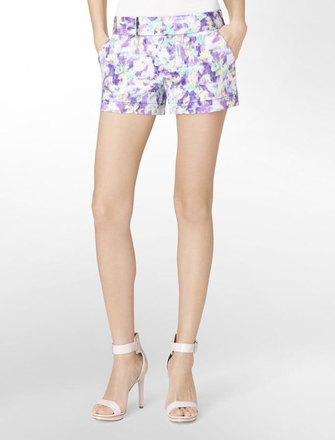 These Calvin Klein floral city shorts ($40, originally $60) are undeniably feminine. We would pair them with all white for a fresh and flirty style.
