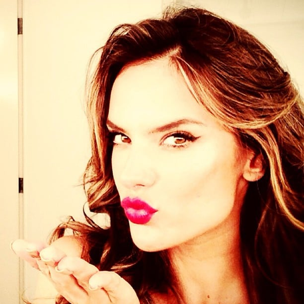 Alessandra Ambrosio sported a bombshell look while on the set. Source: Instagram user alessandraambrosio