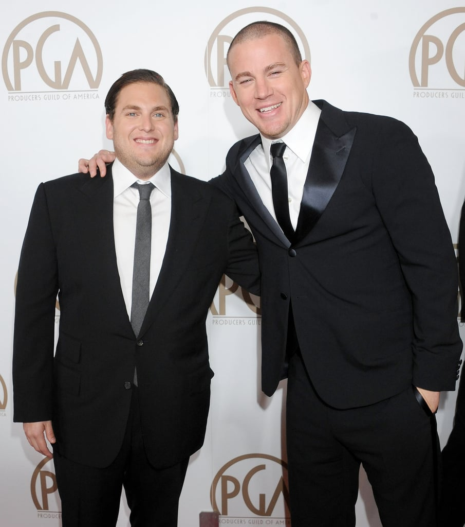 Channing Tatum and Jonah Hill had a mini 21 Jump Street reunion on the red carpet at the Producers Guild Awards.