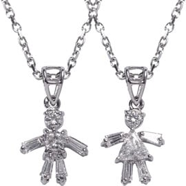 Girl/Boy Diamond Pendant and Chain: Ga Ga or Gag?