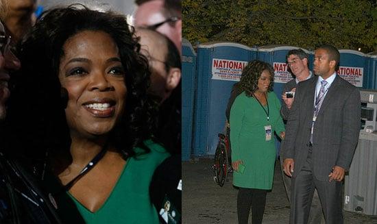 Photos of Oprah Winfrey Using a Porta-Potty