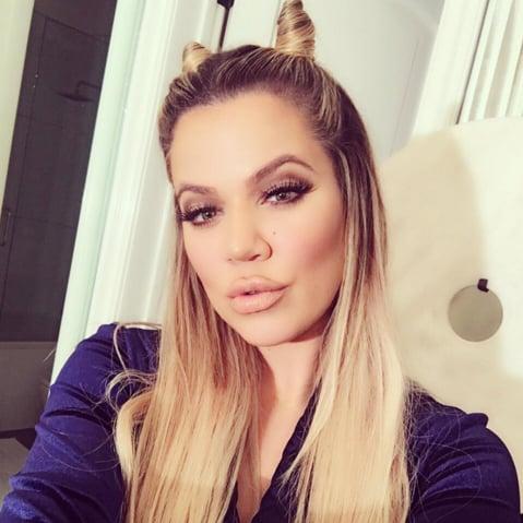 Khloe Kardashian Hello Kitty Hair Buns
