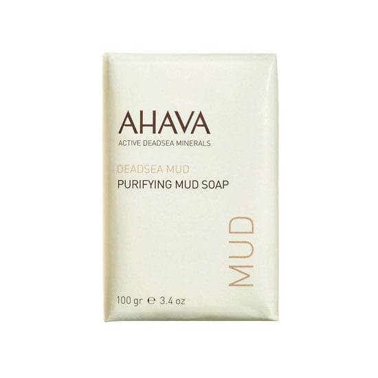 Perfect for oily skin, Ahava Purifying Mud Soap ($10) wicks away acne-causing oils without drying out your skin.
