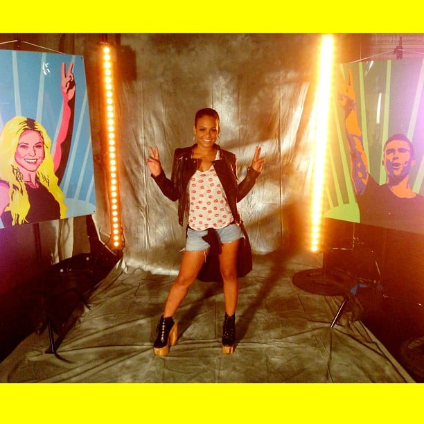 Christina Milian posed on the set of The Voice before heading to rehearsals. Source: Instagram user christinamilian