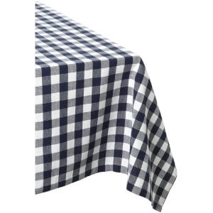 Navy and White Tablecloth