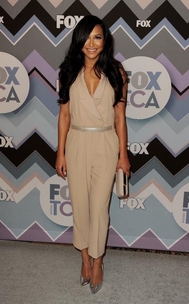 Naya Rivera wore a jumpsuit.