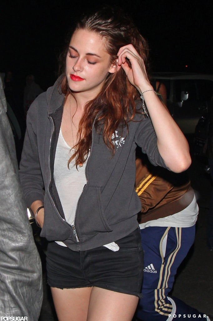 Kristen Stewart caught a Florence and the Machine concert with her dad.