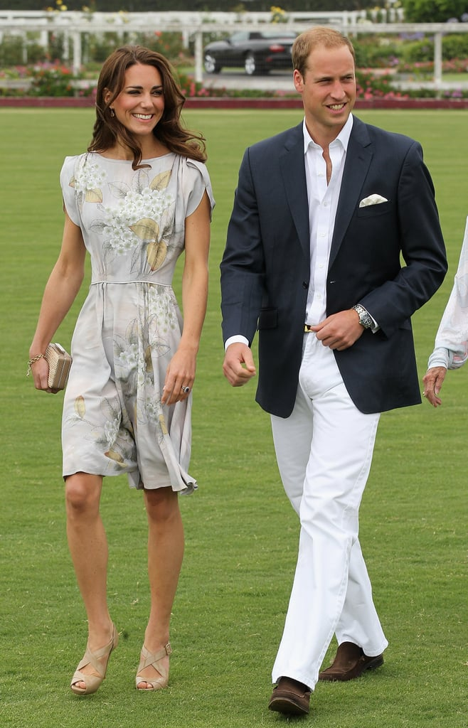 She joined Prince William for a charity polo match for his foundation with Prince Harry during their July 2011 visit to Santa Barbara, CA.