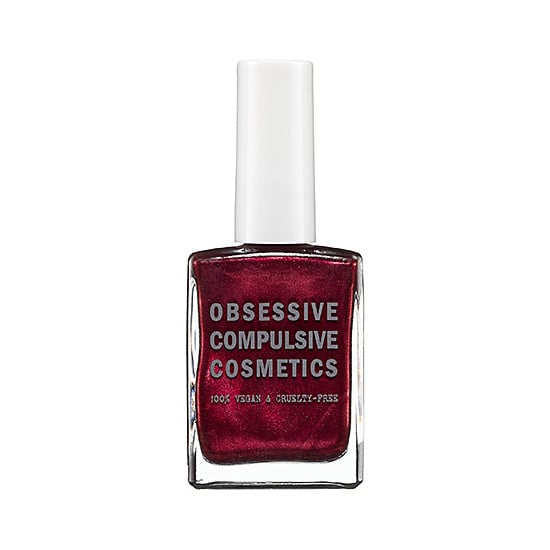If you were a fan of oxblood hues of seasons past, then give Obsessive Compulsive Cosmetics Nail Lacquer in Black Metal Dahlia ($10) a try.