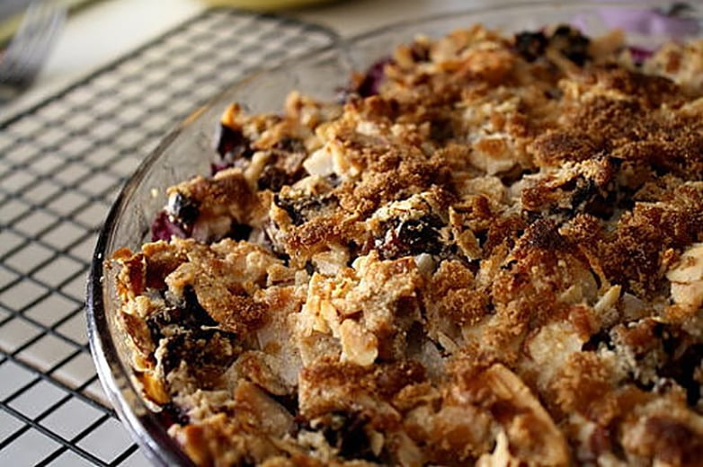 Dessert: Blueberry Crumble