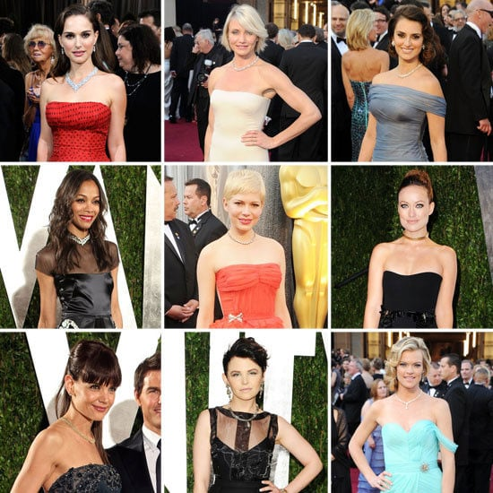 Celebrities Wear Collar Necklaces On the 2012 Oscars Red Carpet: Shop the A List Accessory Trend Now!