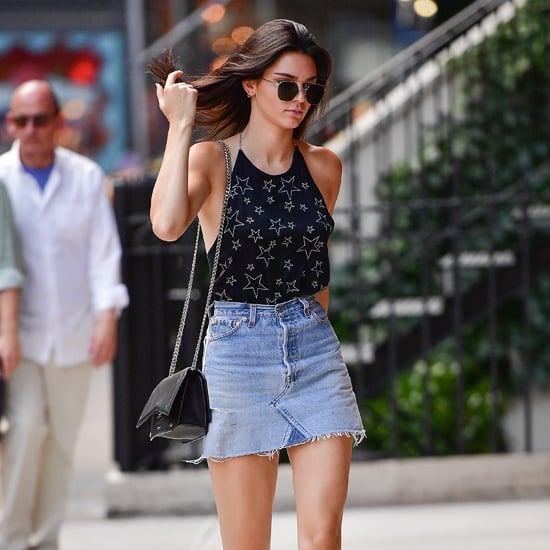 Kendall Jenner Denim Skirt July 2016