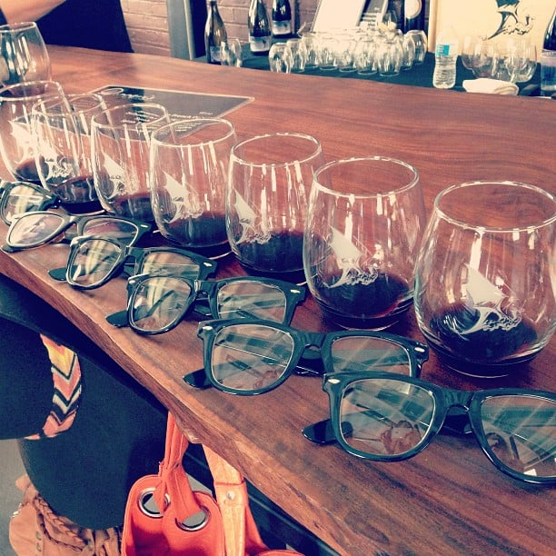 6. The Girl Who Got Six of Her Friends to Wear Nerd Glasses While Wine Tasting