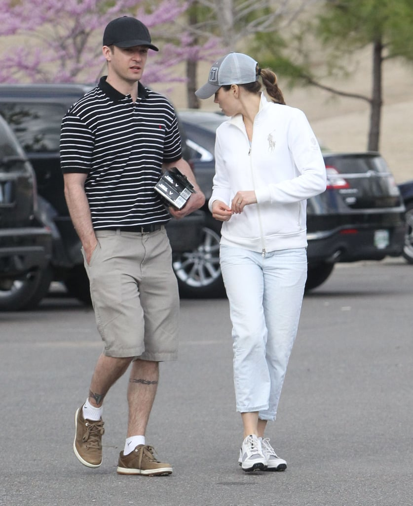 Justin Timberlake and Jessica Biel enjoyed a game of golf at the Mirimichi Golf Course in Millington, TN.