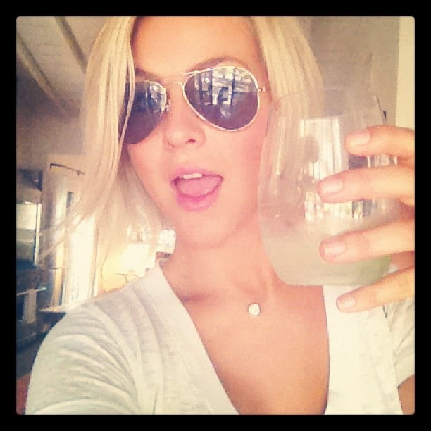 Julianne Hough enjoyed a glass of wine on her day off.  Source: Instagram user juleshough
