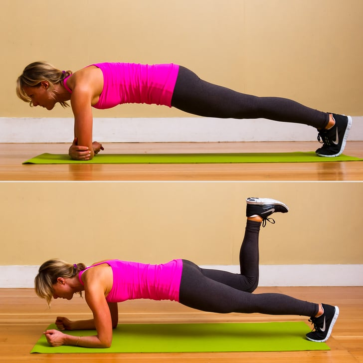 How To Do A Proper Plank And Leg Lift, Tone Your Core