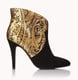 Forever 21 Black and Gold Ankle Boots