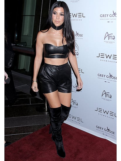 Lady in Leather: Kourtney Kardashian Masters Sexy Biker Chic for Club Night