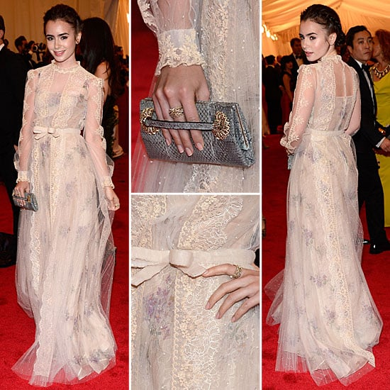 Lily Collins and Red C...